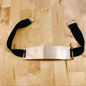 NWOT Gold Plate Elastic Belt